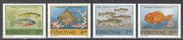 Färöer 1994 - Mi.Nr. 256 - 259 - Postfrisch MNH - Tiere Animals Fische Fishes - Fische