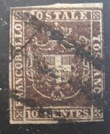 Antichi Stati ITALIA, TOSCANA TOSCANE 1860, Gouvernement Provisoire  , Yvert No 19, 10 C Brun Obl  Cote 45 Euros - Naples