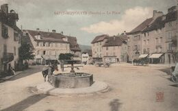 25/ Saint-Hippolyte - La Place   -   Carte Colorisée Neuve Tres Bon état - Saint Hippolyte
