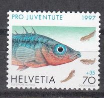 Tr_ Schweiz 1997 - Mi.Nr. 1630 - Postfrisch MNH - Tiere Animals Fische Fishes - Fische