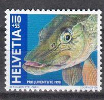Tr_ Schweiz 1998 - Mi.Nr. 1666 - Postfrisch MNH - Tiere Animals Fische Fishes - Fische