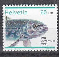 Tr_ Schweiz 1995 - Mi.Nr. 1568 - Postfrisch MNH - Tiere Animals Fische Fishes - Fische