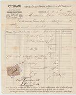 BORDEAUX: V. VIGANO, Liqueurs Grande Chartreuse, Rue Cornac / Fact. De 1888 Pour Bx - Food
