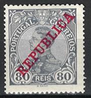 Portugal 1910. Mi.Nr. 176, MH * - 1910-... Republik