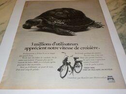 ANCIENNE PUBLICITE VITESSE DE CROISIERE  VELOSOLEX 1976 - Motorfietsen