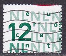2002 Bijplakzegel € 0,12 Groen Volledig Verschoven Naar Rechtsonder NVPH 2035 A - Errors & Oddities