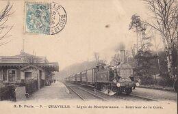CPA CHAVILLE 92 - Ligne De Montparnasse - Intérieur De La Gare - Chaville