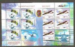 Belarus: 2 Mint Sheetlets, Sport - Air Technical Sports: Pilot Flying, Parashuting, 2009, Mi# 773-774, MNH - Fallschirmspringen