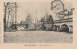 MERREY SUR ARCE - LE PONT DE VILLENEUVE - BELLE CARTE - PRECURSEUR -  2 SCANNS - TOP !!! - Sonstige Gemeinden
