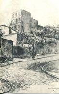 N°3720 R -cpa Illustrateur -Montmartre -rue Ravignon- - Distrito: 18