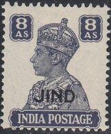 Jind, Scott #176, Mint Hinged, George VI Overprinted, Issued 1942 - Jhind