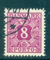 Dänemark 1950 Porto 8 Ø Lilaviolett Mi 34 Gestempelt - Segnatasse