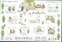 JAPAN, 2019, MNH, CHILDREN'S PICTURE BOOKS SERIES, MICE, FROGS, SHEETLET - Enfance & Jeunesse