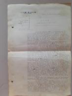 Note Adressée Au Ministre Des Affaires Etrangeres Du Levant Liban Damas Beyrouth  Syrie 1928 - Manuscripts
