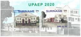 Suriname 2020, UPAEP, Architecture, 2val In Block - Surinam