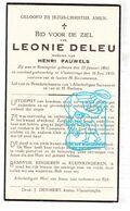 DP Leonie Deleu ° Reningelst Poperinge 1845 † Vlamertinge Ieper 1935 X Henri Pauwels - Andachtsbilder