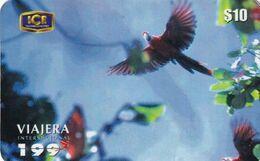 COSTA RICA - Parrots, ICE Tel Prepaid Card $10, Tirage 10000, 10/00, Used - Costa Rica