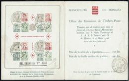 Monaco - Feuillet Souvenir Philatélique Publicitaire Croix Rouge Monégasque 17-12-1949  -B/TB - - Storia Postale