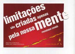 CP Pub Neuve Brésilienne Avec Découpe Spéciale. Johnnie Walker. Keep Walking. Proverbe Chinois (en Portugais) Whisky - Advertising