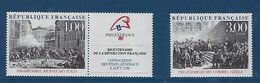 "FR YT 2537 & 2538 "" Bicentenaire Révolution Française "" 1988 Neuf** - France"