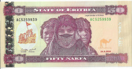 ERYTHREE - 50 Nakfa 2004 - UNC - Eritrea