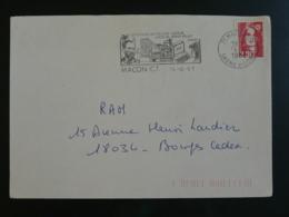 71 Saone Et Loire Macon Collège Pasteur 1991 - Flamme Sur Lettre Postmark On Cover - Louis Pasteur