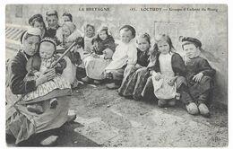 Loctudy Groupe D' Enfants Du Bourg Rare Publicité Au Verso Emile Bucheron Représentant Paris - Loctudy