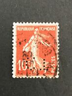FRANCE C N° 138 Semeuse CT 366 Indice 7 Perforé Perforés Perfins Perfin Superbe ! - France