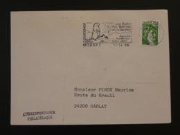 73 Savoie Modane Marmotte Marmot Montagne Mountain 1980 - Flamme Sur Lettre Postmark On Cover - Briefmarken