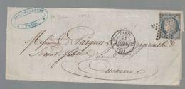 Oblit. - Etoile Muette Paris - Cérès 25c Bleu Non Dentelé - 1849-1876: Klassik