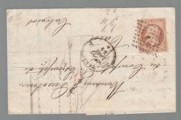"""Oblit. - Losange """"J"""" - Cachet Paris - Napoléon 40c Brun Non Dentelé - 1849-1876: Klassieke Periode"""