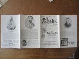 PROGRAMME DU THEÂTRE DES VARIETES SAISON THEATRALE 1897-1898 LE NOUVEAU JEU COMEDIE DE M. HENRI LAVEDAN EN 5 ACTES ET 7 - Programme