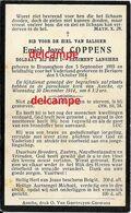 OORLOG GUERRE Emiel Coppens Assche Brussegem Soldaat Lancer Gesneuveld Te  Berlare 5 Oktober 1914 - Devotieprenten