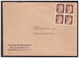 Dt- Reich (020226) Firmenbrief Mit Adolf Hitlermarken Frankatur MNR 782 Viererblock Gelaufen Bromberg 6.4.1943 - Germania