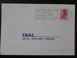 83 Var Draguignan Dolmen Prehistoire 1988 - Flamme Sur Lettre Postmark On Cover - Prehistoria