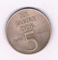 5 MARK 1969 A  DDR  DUITSLAND /6964/ - [ 6] 1949-1990 : RDA - Rep. Dem. Tedesca