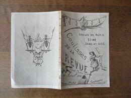 10 AVRIL 1891 GROUPE DE PARIS SEINE SEINE ET OISE COULISSES DE LA REVUE PAR PAUL SOLIE HOTEL CONTINENTAL HELIOTYPIE L.RO - Programme