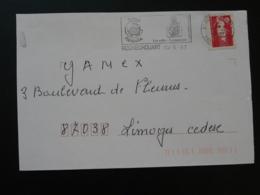 87 Haute Vienne Rochechouart Pays De La Météorite 1997 (ex 1) - Flamme Sur Lettre Postmark On Cover - Other