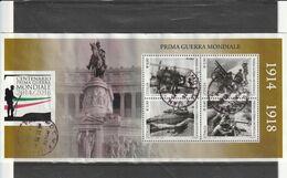 Repubblica - Storia Postale - Foglietto Centenario 1^ Guerra Mondiale - Usato   - - 6. 1946-.. Repubblica
