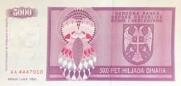 Bosnia 5.000 Dinara, P-138 (1992) - UNC - Bosnia And Herzegovina