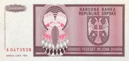 Bosnia 50.000.000 Dinara, P-145 (1993) - UNC - Bosnia And Herzegovina