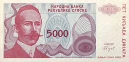 Bosnia 5.000 Dinara, P-152 (1993) - UNC - Bosnia And Herzegovina