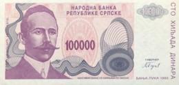 Bosnia 100.000 Dinara, P-154 (1993) - UNC - Bosnia And Herzegovina