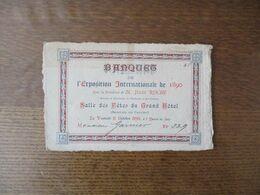 BANQUES DE L'EXPOSITION INTERNATIONALE DE 1890 SALLE DES FÊTES DU GRAND HÔTEL INVITATION LE VENDREDI 17 OCTOBRE 1890 - Historische Dokumente