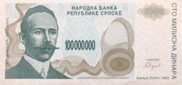 Bosnia 100.000.000 Dinara, P-157 (1993) - UNC - Bosnia And Herzegovina