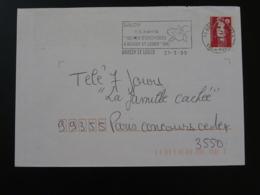 94 Val De Marne Boissy Saint Leger Salon Orchidées Orchids 1995 (ex 3) - Flamme Sur Lettre Postmark On Cover - Orchideen