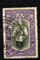 SIAM THAILAND 1912, Yvert 111, Roi Vajiravudh, 1 Valeur, Oblitéré / Used. R1629indAa - Tailandia