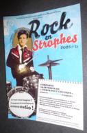 Carte Postale : Rock En Strophes 2008 (Arthur Rimbaud Avec Une Batterie) Ville De Saint Cloud - Advertising