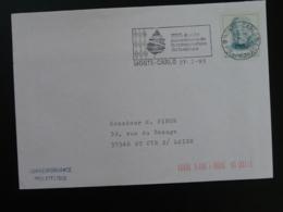 98 Monaco Année Européenne Conservation De La Nature 1995 Slania - Flamme Sur Lettre Postmark On Cover - Environment & Climate Protection
