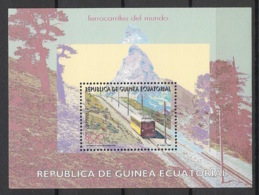 Guinée  équatoriale - 1995 - Bloc Feuillet BF N°Yv. 8 - Trains - Neuf Luxe ** / MNH / Postfrisch - Guinea Ecuatorial